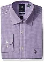 U.S. Polo Assn. Men's Shepherds Check Semi Spread Collar Dress Shirt