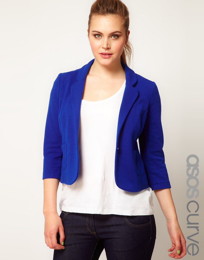 Asos Jacket With Curved Lapel