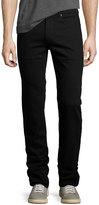 Bugatchi Five-Pocket Straight-Leg Jeans, Nero