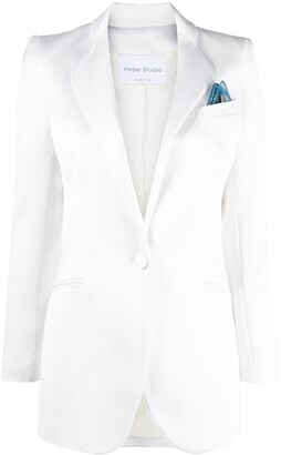 Hebe Studio Smoking single-breasted fitted blazer