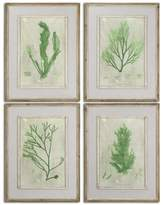 Uttermost 4 Piece Emerald Seaweed Wall Art Set