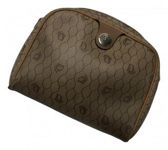 Christian Dior Brown Cloth Clutch bags