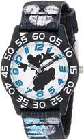 Disney Boy's 'Mickey Mouse' Quartz Plastic and Nylon Casual Watch, Color: (Model: WDS000125)