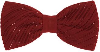 Stefano Ricci Crystal Pleated Silk Bow Tie