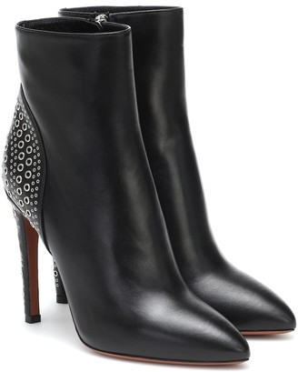 Alaia Embellished leather ankle boots