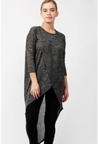 Select Fashion Fashion Womens Black Cut And Sew Wrap Front L/S - size 14