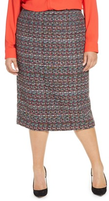 Halogen Tweed Pencil Skirt