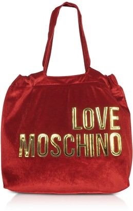 Love Moschino Signature Velvet Tote Bag