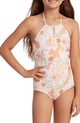 Billabong Kids' Little Bit of Sunshine One-Piece Swimsuit