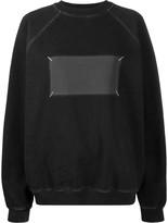 Maison Margiela faded patch oversized sweatshirt