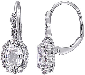 Rina Limor Fine Jewelry 14K 2.68 Ct. Tw. Diamond & White Topaz Earrings