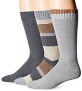 Lucky Brand Lucky Men's 3 Pack Colorblock Casual Crew Socks