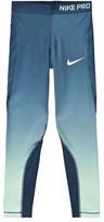 Nike Blue Hypercool Fade Leggings