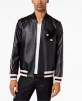 INC International Concepts Men's Faux-Leather Varsity Jacket, Created for Macy's