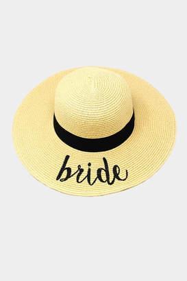Embellish Straw Bride Hat