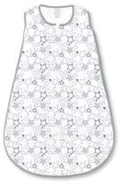 Swaddle Designs Size 12-18M Starshine Shimmer Cotton Knit zzZipMe® Sack in Sterling