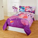 5pc Girls Purple My Little Pony Friendship Is Magic Serial Theme Comforter Twin Full Set, Animated Cartoom, Vibrant Colors, Cute Movie Characters, Fun Printed Bedding