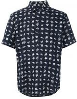 3x1 fish print shortsleeved shirt