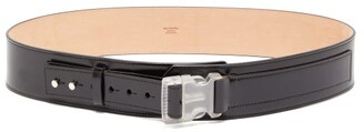 Acne Studios Clip-buckle Leather Belt - Mens - Black