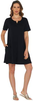 Denim & Co. Beach French Terry A-Line Cover-Up Dress
