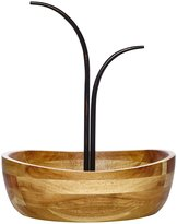 Mikasa Vienna Wrought Iron & Wood Fruit Bowl with Double Banana Hook