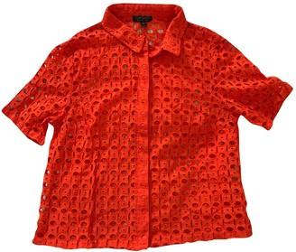 Topshop Tophop Orange Cotton Top for Women