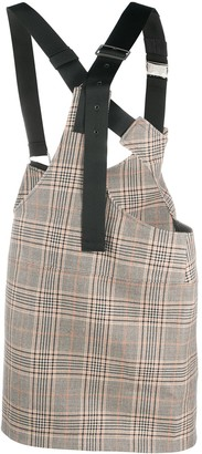 Junya Watanabe Checked Buckled-Strap Skirt