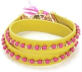 Juicy Couture Beaded Leather Double Wrap Bracelet