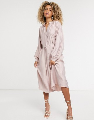 And other stories & midi dress in dusty pink