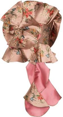 Johanna Ortiz Fairy tale ruffled silk blend top