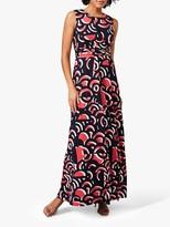 Phase Eight Noriko Abstract Maxi Dress, Navy/Multi
