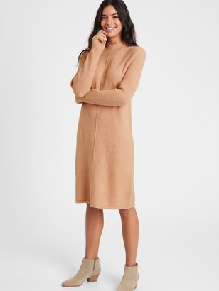 Banana Republic Petite Mock-Neck Sweater Dress