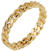 Argentovivo 18K Gold Plated Twisted Band Ring - Size 8