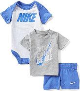 Nike Baby Boys Newborn-12 Months Bodysuit, Tee & Shorts Set