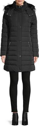 Tommy Hilfiger Faux Fur-Trim Quilted Puffer Coat