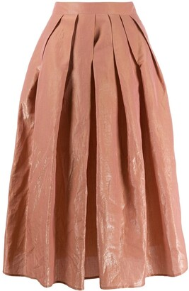 Fabiana Filippi pleated A-line skirt