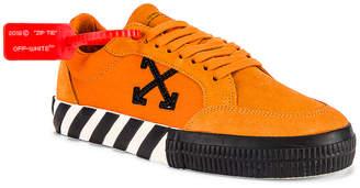 Off-White Off White Low Vulcanized Sneaker in Orange & Black | FWRD