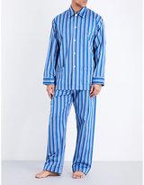Derek Rose Wellington Striped Cotton Pyjama Set