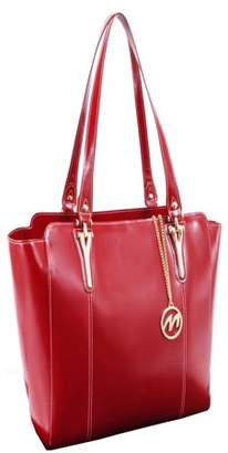 McKlein Usa ALICIA, Ladies' Tote with Tablet Pocket, Top Grain Cowhide Leather, Red (97516)