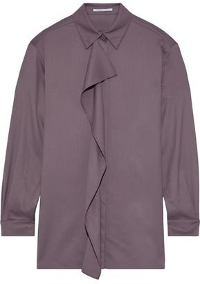 Agnona Ruffled Wool And Cashmere-blend Twill Shirt