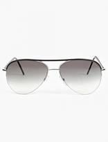 Cutler and Gross Black Leather '0702' Aviator Sunglasses