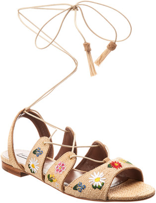 Tabitha Simmons Embroidered Cruz Sandal