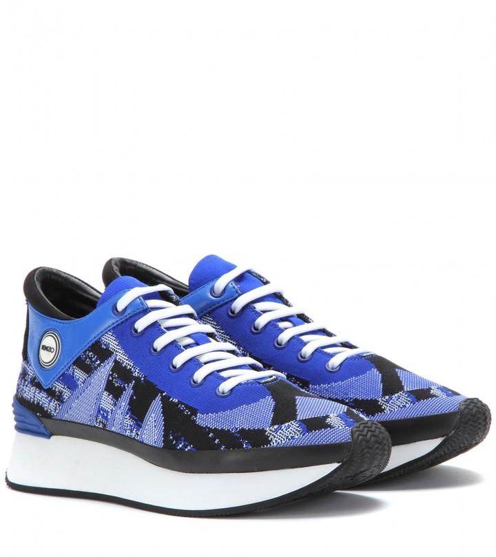 Kenzo Kalifornia neoprene and leather sneakers