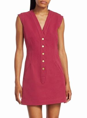 Derek Lam Cotton Twill V-Neck Shift Dress