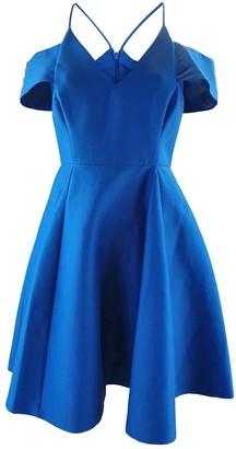 Halston \N Blue Silk Dresses