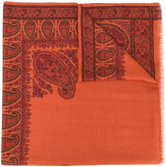 Etro Paisley-Patterned Fringed Scarf
