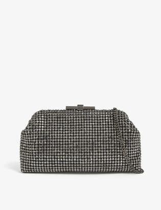 Reiss Adaline embellished clutch bag