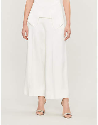 Roland Mouret Ward high-rise wide crepe trousers
