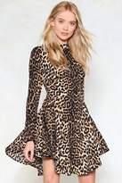 Nasty Gal Feline Yourself Leopard Dress