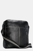 Storksak Infant 'Jamie' Leather Diaper Bag - Black
